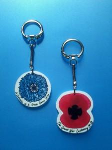 Porte clés Bleuret Coquelicot